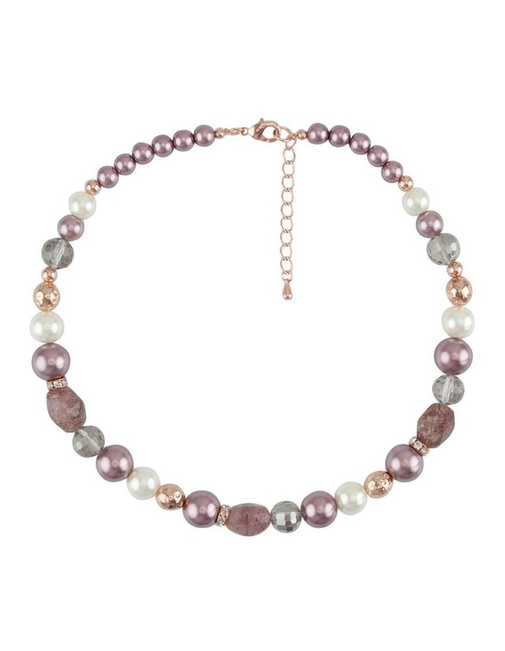 Pearl and Multi Stone Rope Necklace image 1