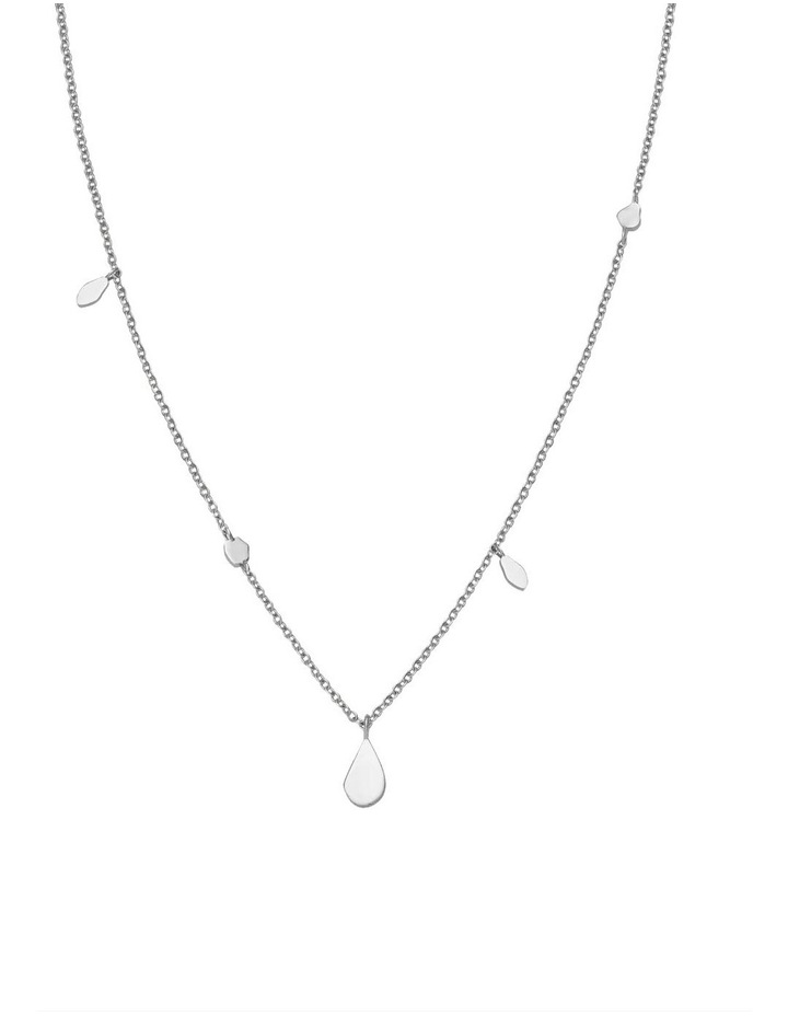Iggy Shaped Drop Necklace Silver image 1