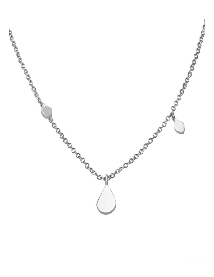 Iggy Shaped Drop Necklace Silver image 2