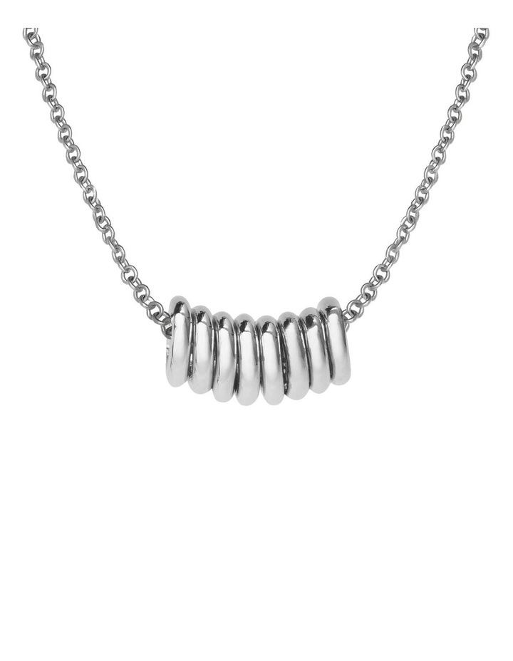 Iggy Multi Hoop Necklace Silver image 2