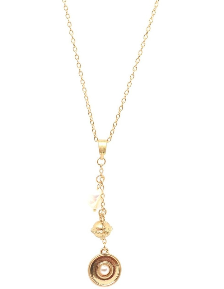 Doriana Pearl Drop Necklace Gold image 1