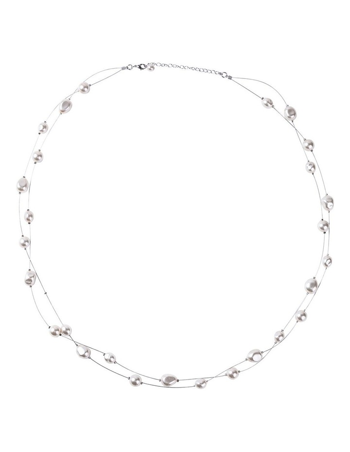 Double Strand Mixed Pearl Necklace image 1