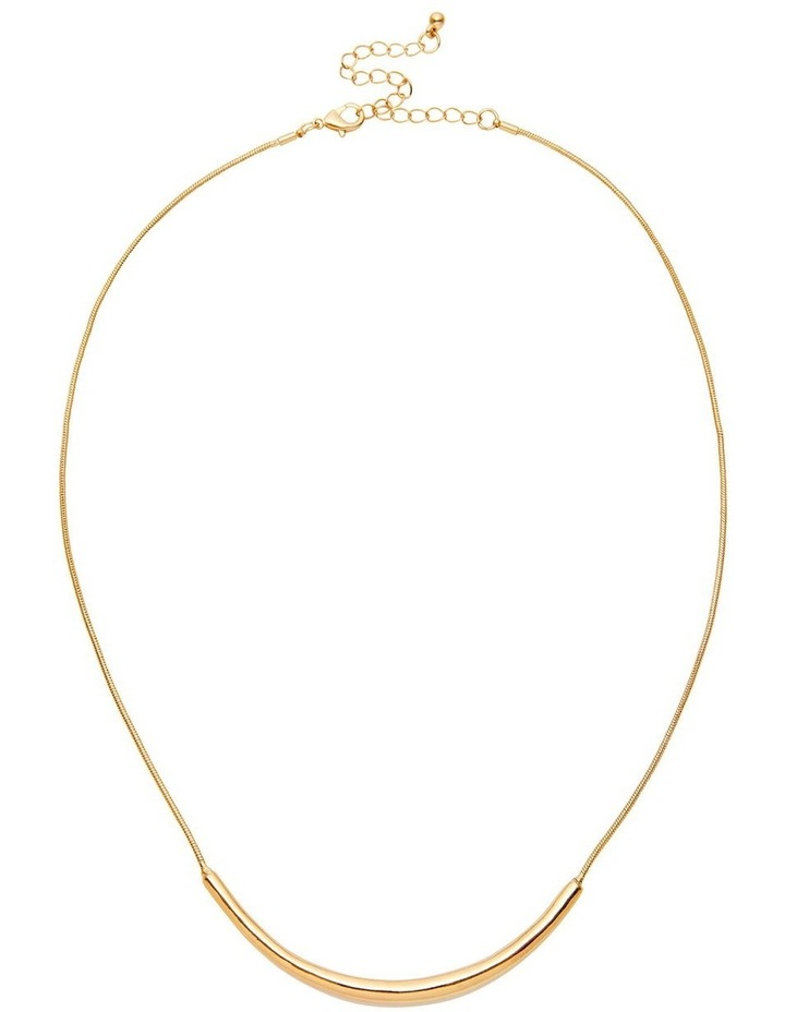 Tapered Metal Bar Necklace image 1