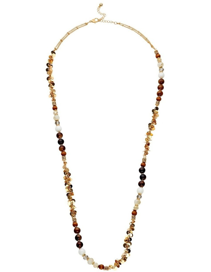 Stone and Metal Rope Necklace image 1