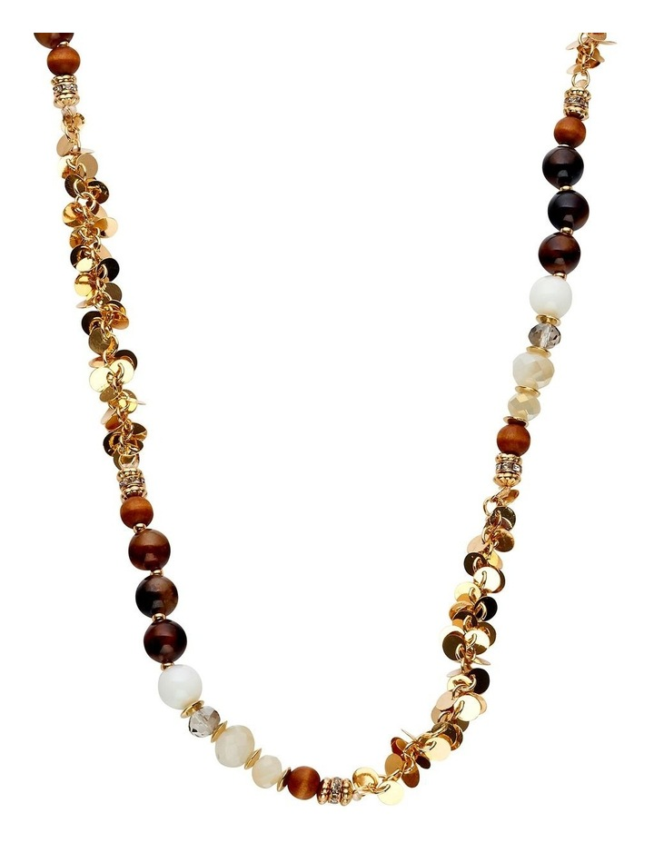 Stone and Metal Rope Necklace image 2