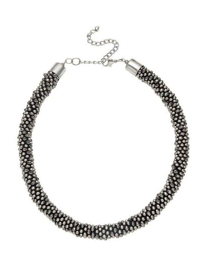 Beaded Woven Necklace image 1