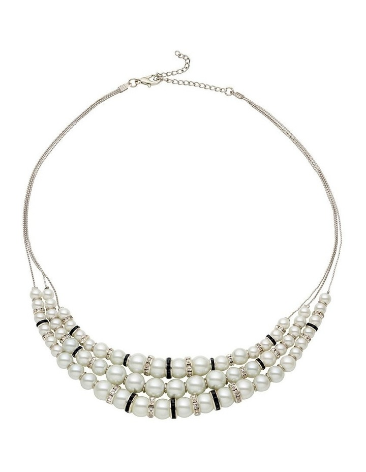 3 Layer Pearl Necklace image 1