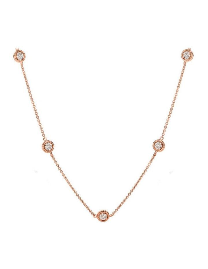 Karat Rose Gold 32 Inch Necklace Sterling Silver image 1