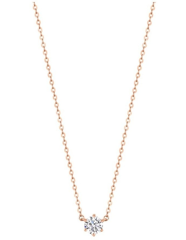 Portobello Rose Gold Pendant Sterling Silver image 1