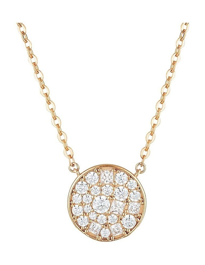 Mosaic Disc Rose Gold Pendant Sterling Silver image 1