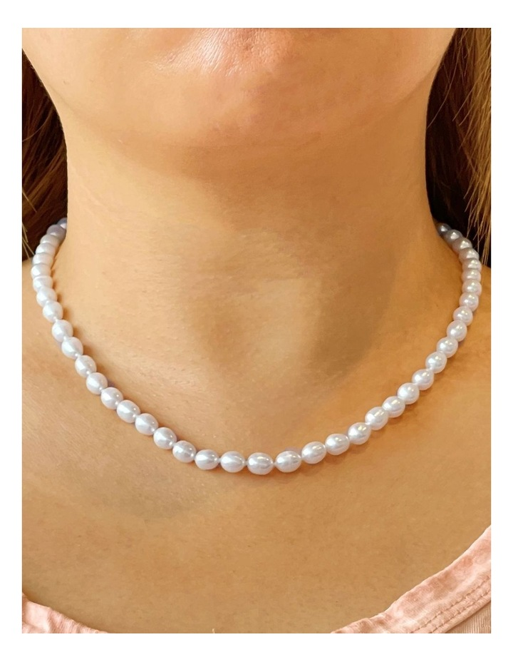 The Classic Pearl White Necklace image 2