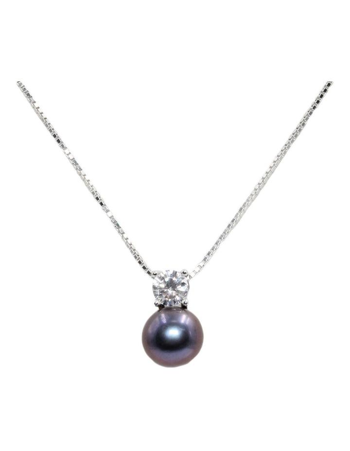 Simply Brilliant Black Pearl Pendant Necklace image 1