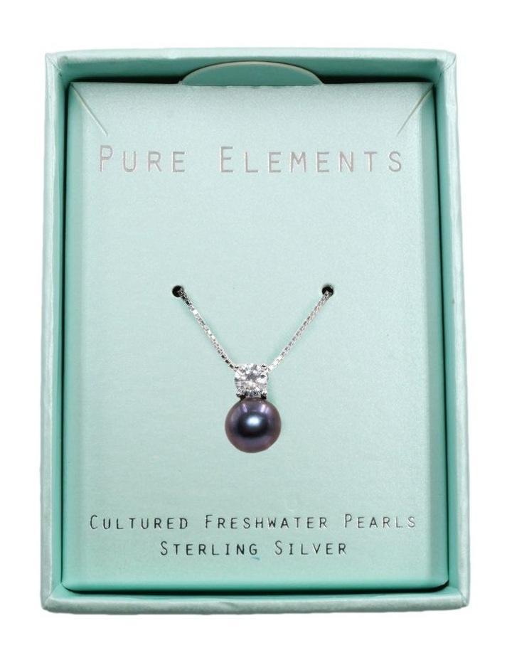 Simply Brilliant Black Pearl Pendant Necklace image 3