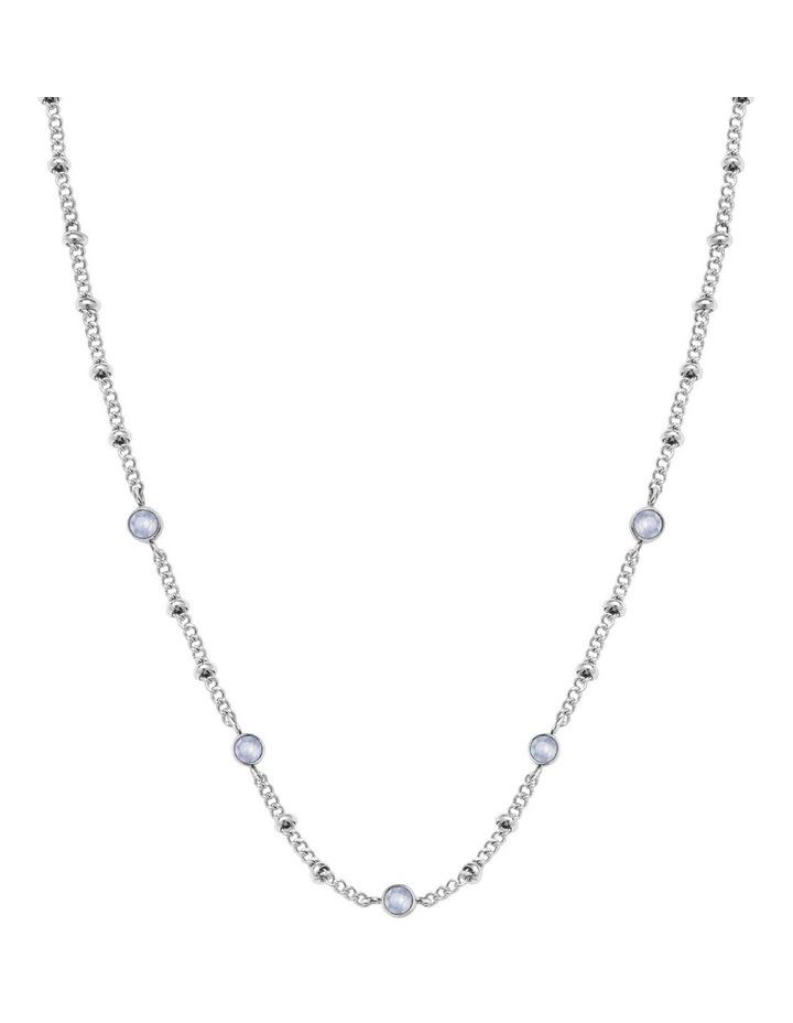 JCSCS-J265 Raye Crystal Choker Necklace - Silver image 1