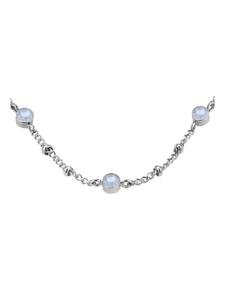 JCSCS-J265 Raye Crystal Choker Necklace - Silver image 2