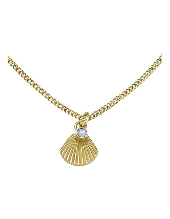 JPNSCG-J268 Raye Sunray Crystal Pendent Necklace - Gold image 2
