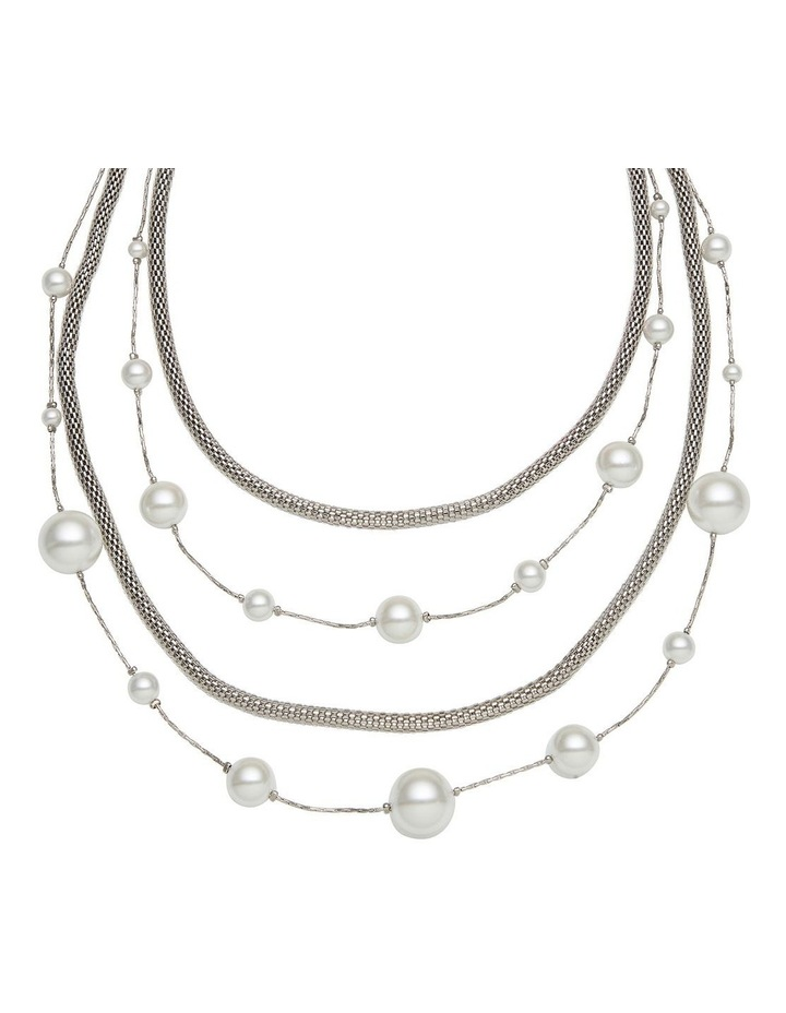 Layer Pearl & Chain Necklace image 2