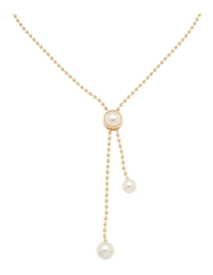 Ball Chain With Pearl Lariat image 1