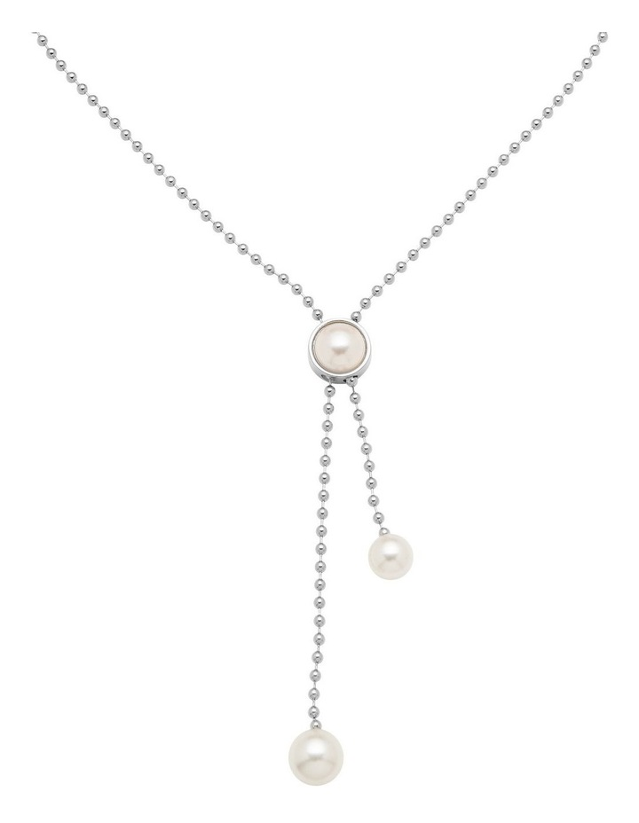 BALL CHAIN WITH PEARL LARIAT image 2