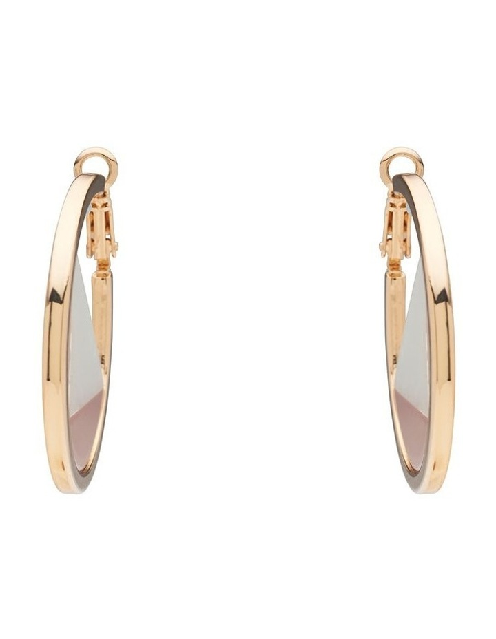 Spliced Coloured Hoop Earrings image 1
