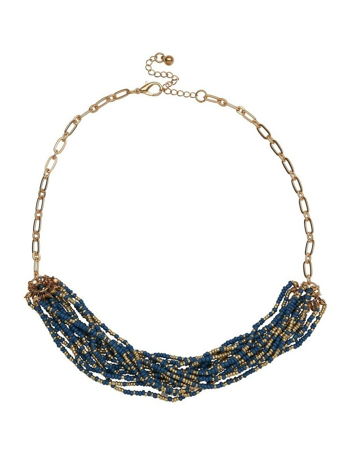 Layered Bead Blue Necklace image 1