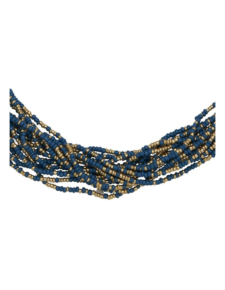 Layered Bead Blue Necklace image 2