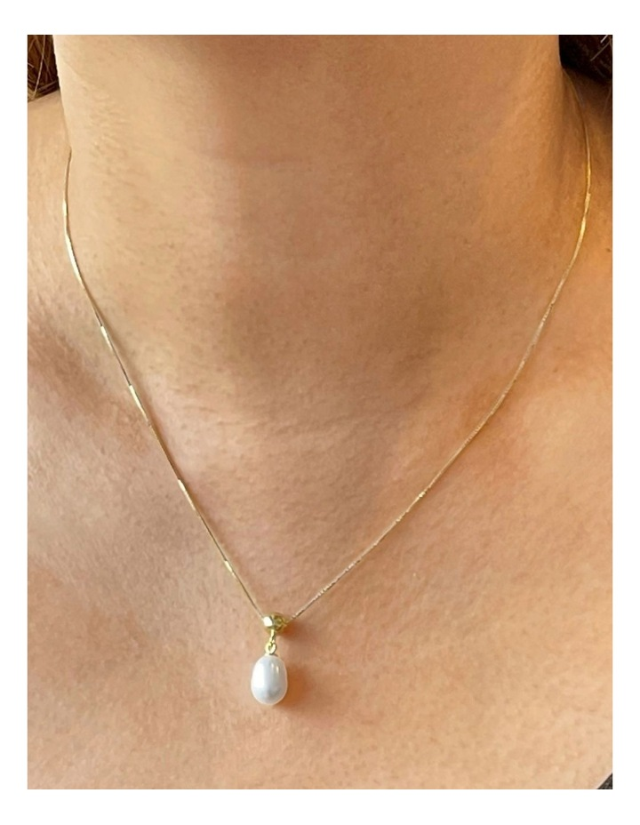 14ct Gold Plated Pearl Slider Necklace image 2