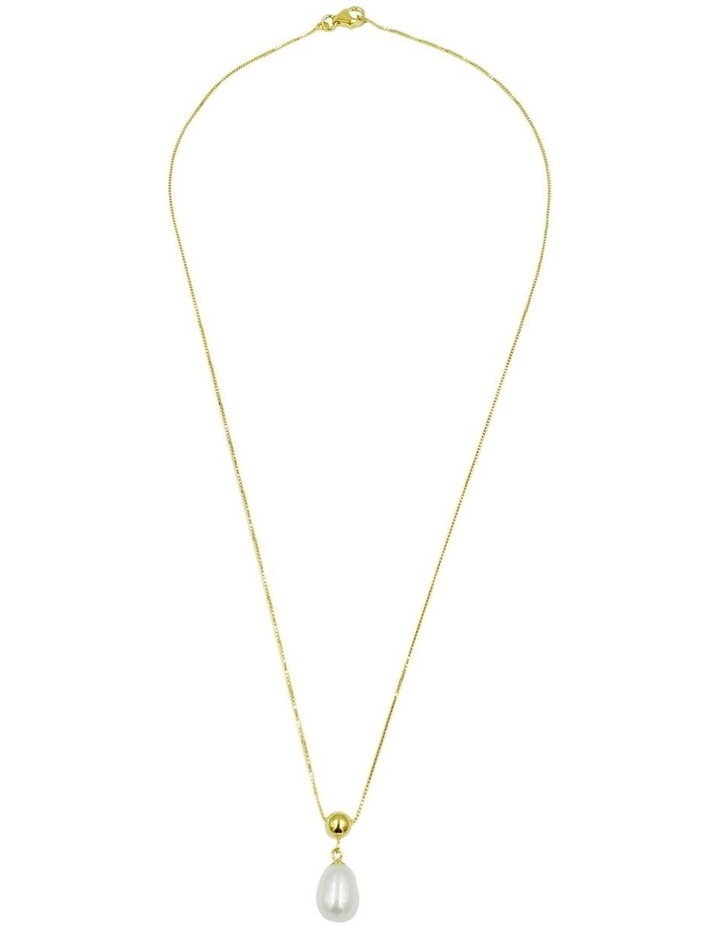 14ct Gold Plated Pearl Slider Necklace image 3