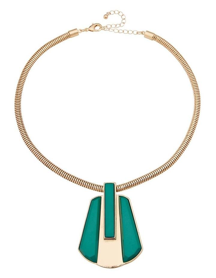 Splice Feature Pendant Green Necklace image 1