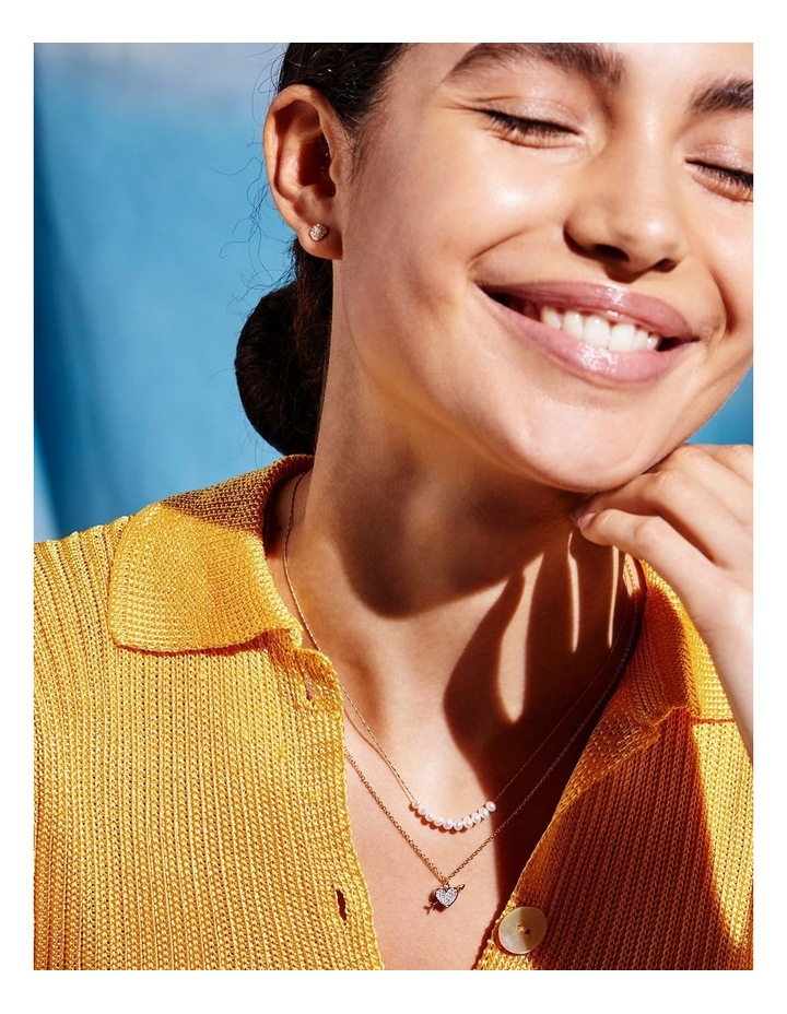 Lovestruck Pave Cubic Zirconia Gold Necklace image 2