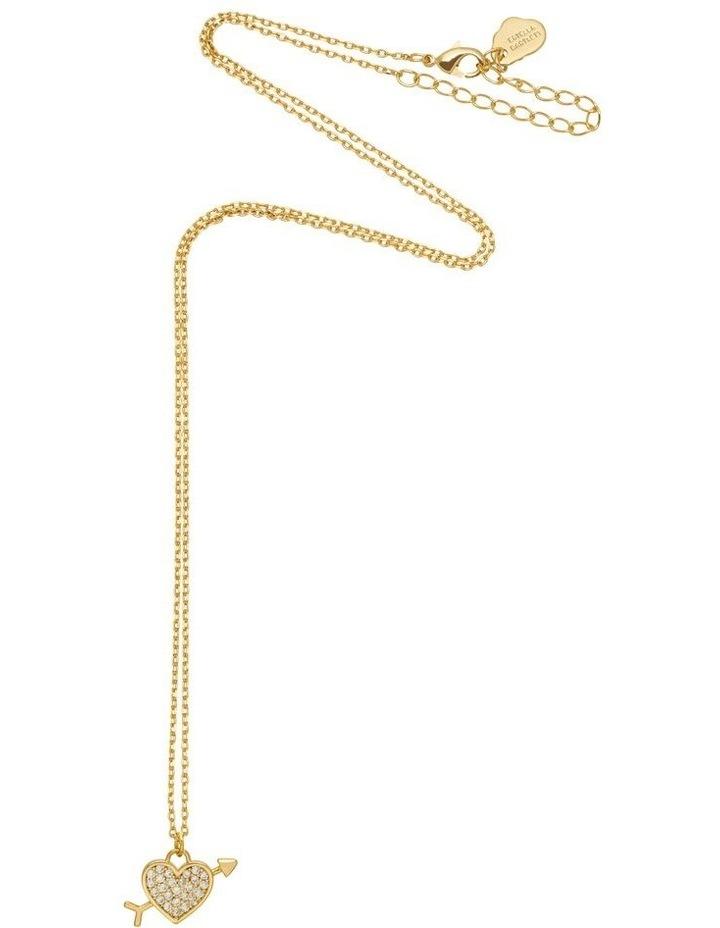 Lovestruck Pave Cubic Zirconia Gold Necklace image 3