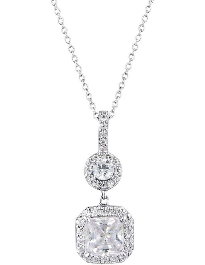Clara Pendant Silver Necklace image 1