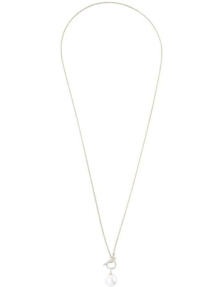 Single Pearl Chain Necklace image 1