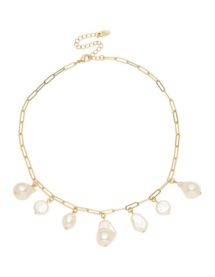 Pearl Charm Drop Necklace image 1