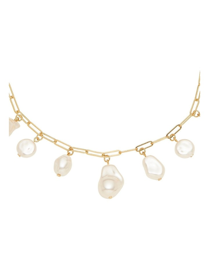 Pearl Charm Drop Necklace image 2