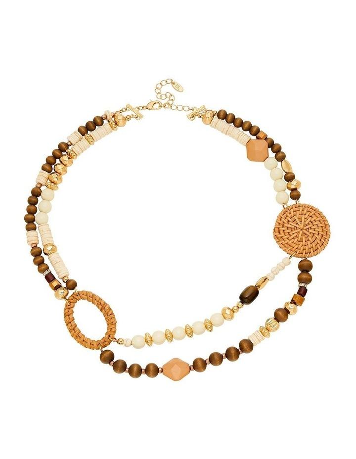 Layered Mixed Raffia Necklace image 1