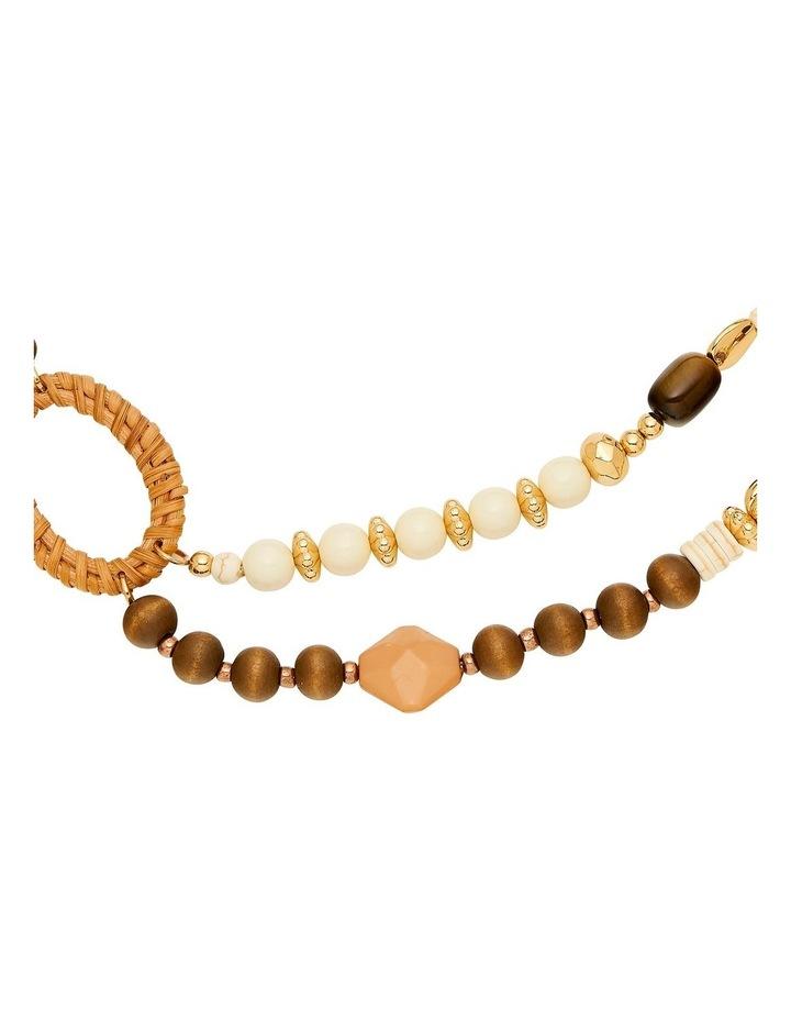 Layered Mixed Raffia Necklace image 2