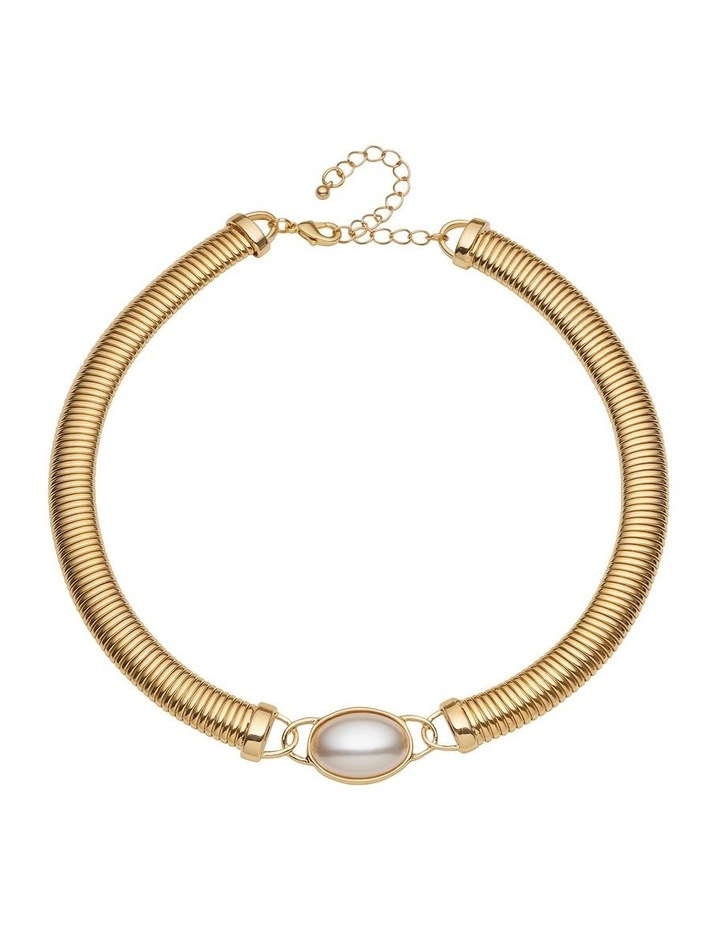 Pearl Feature Coil Collar Necklace image 1