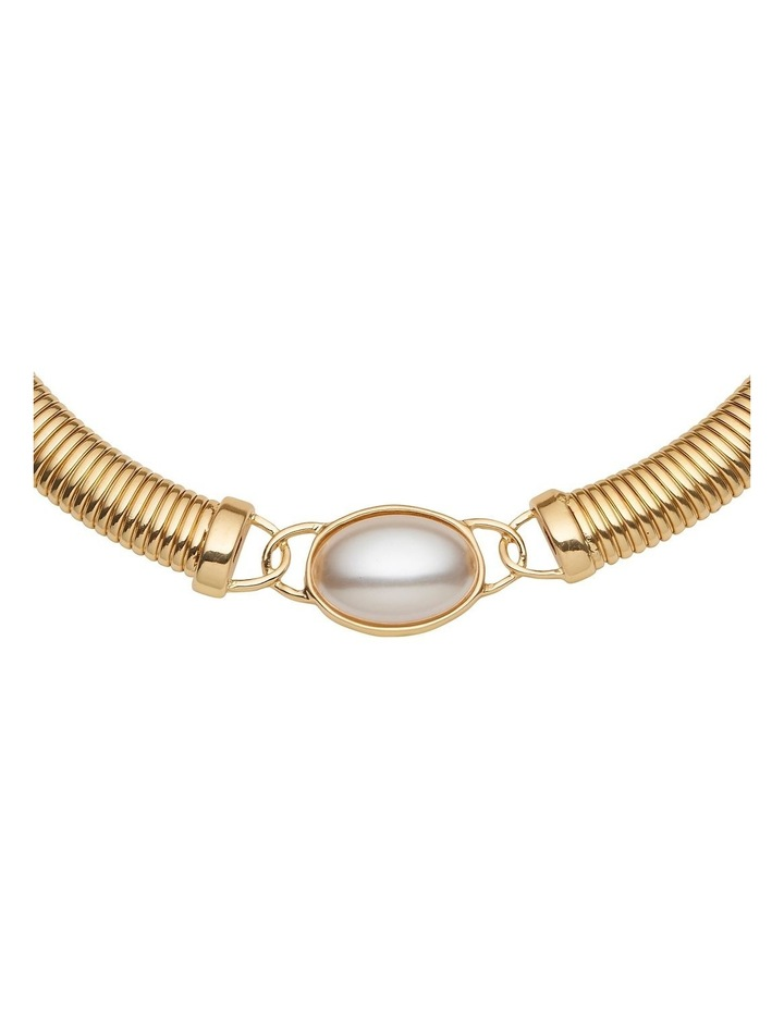 Pearl Feature Coil Collar Necklace image 2