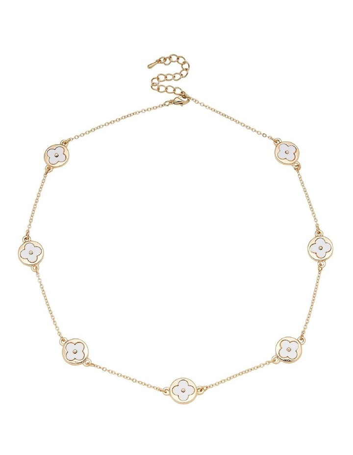 Floral & Chain Necklace image 1