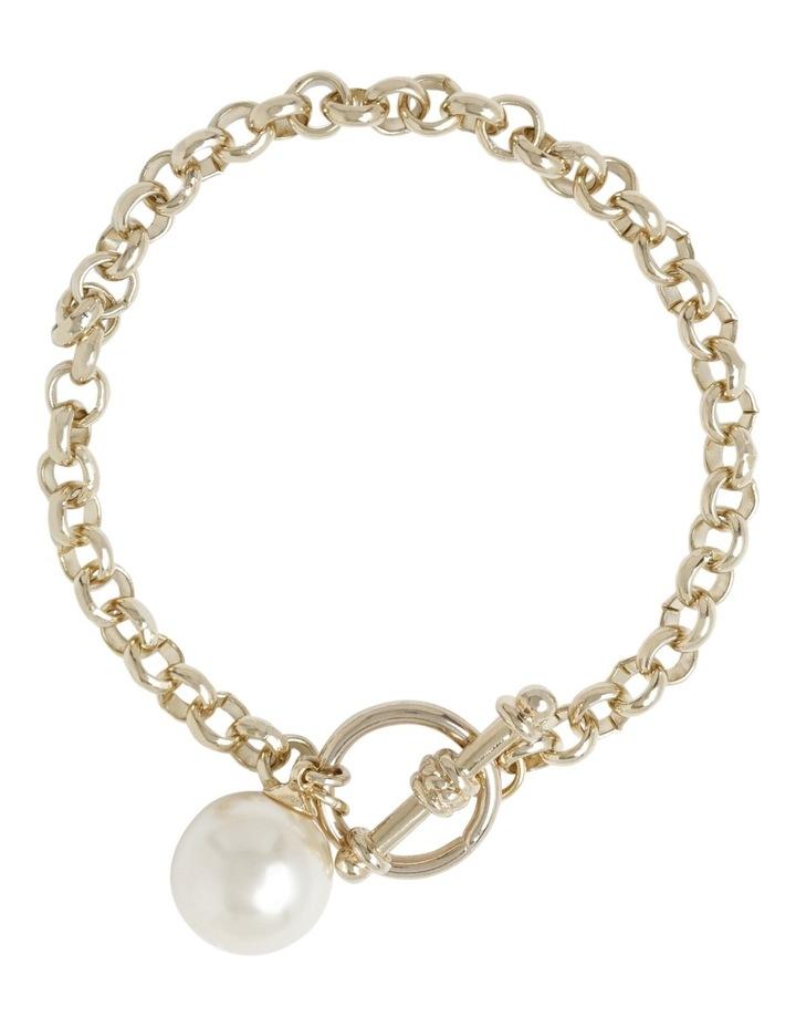 Faux Pearl Fob Chain Bracelet image 1