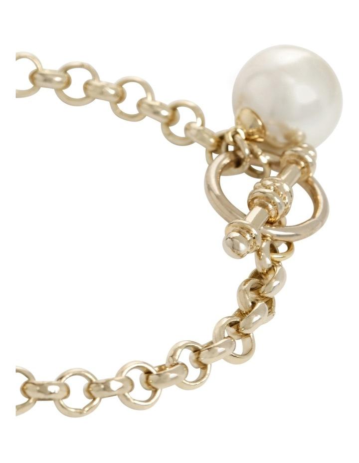 Faux Pearl Fob Chain Bracelet image 2