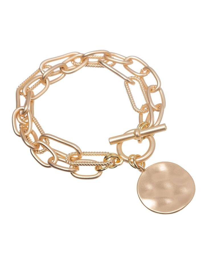 Brushed Gold Bracelet image 2