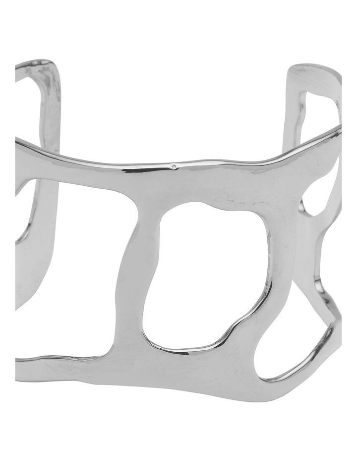Irregular Form Silver Open Cuff Bracelet image 2