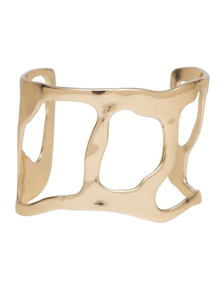 Irregular Form Gold Open Cuff Bracelet image 1