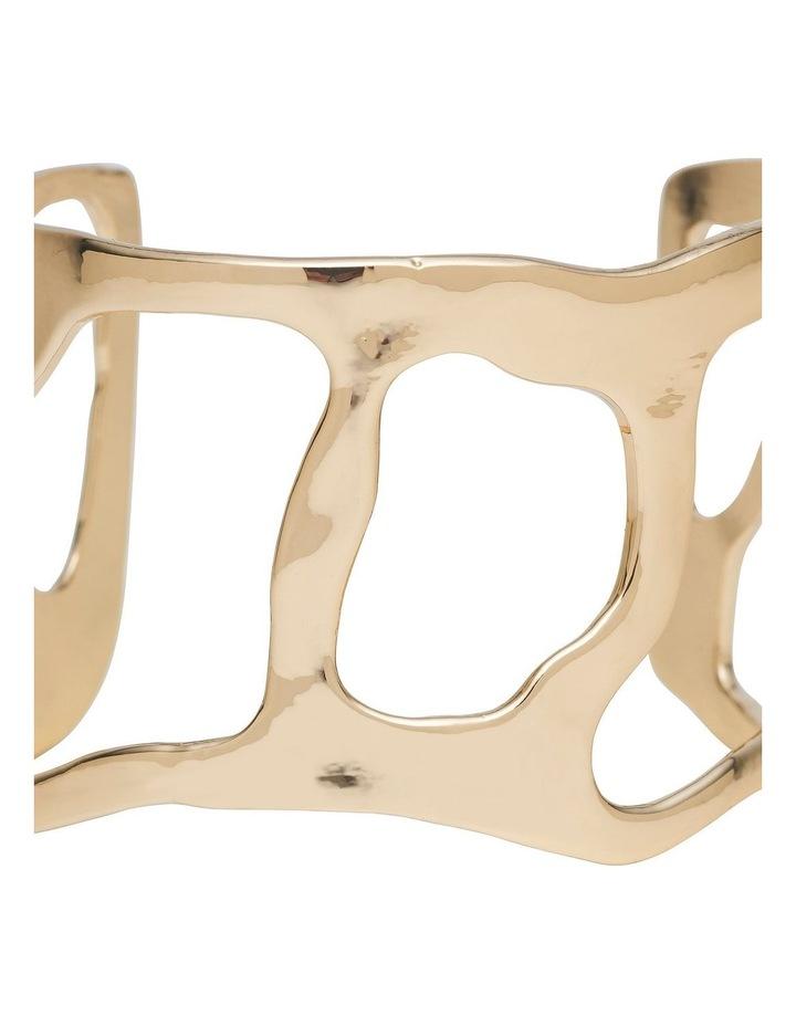 Irregular Form Gold Open Cuff Bracelet image 2