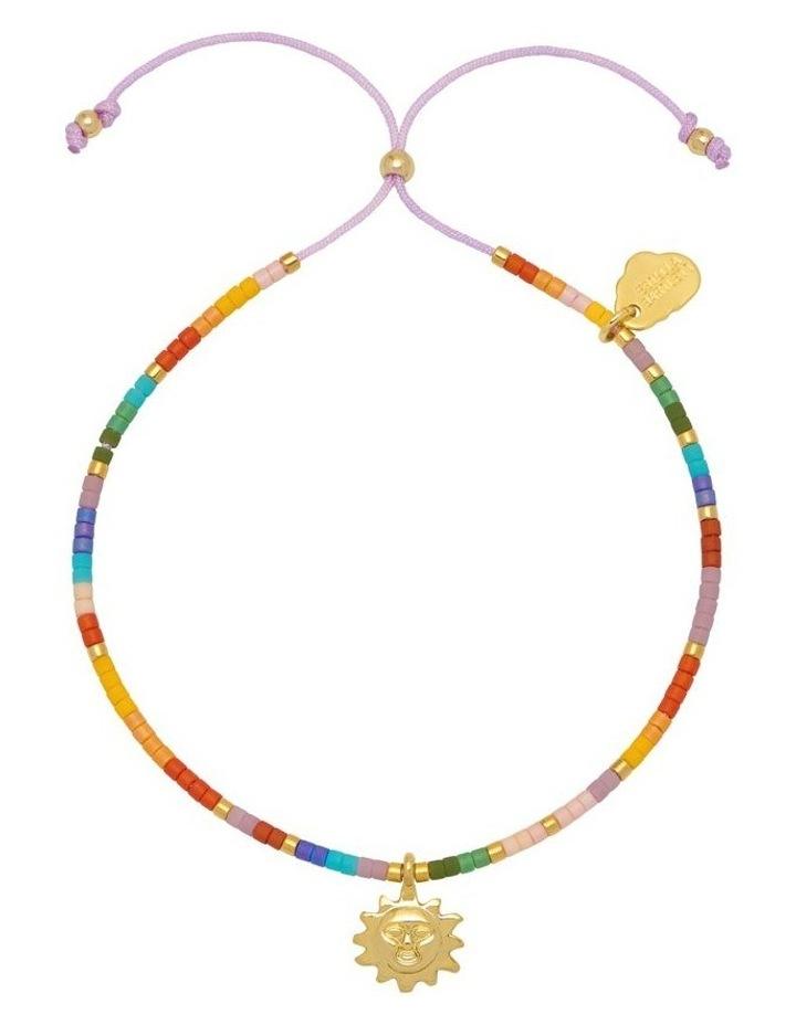 Beaded Rainbow Sun Charm Louise Bracelet image 1