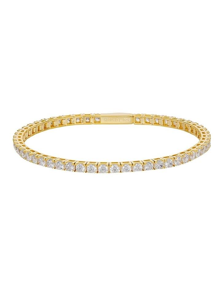 Selena 3mm Tennis Bracelet Gold image 1