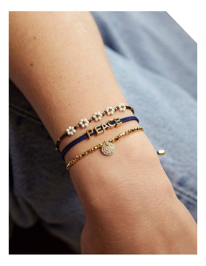Miyuki Daisy Chain Midnight Bracelet image 2