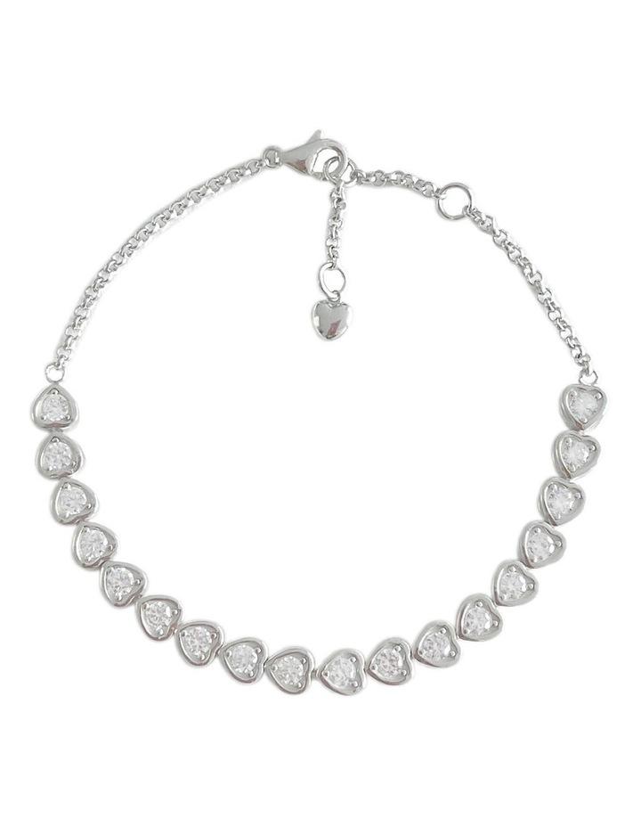 Cz Hearts Tennis Bracelet image 1